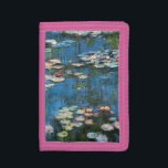 """Waterlilies by Claude Monet, Vintage Impressionism Trifold Wallet<br><div class=""""desc"""">Waterlilies (1914) by Claude Monet is a vintage impressionist fine art nature painting. One of many variations of water lily floral paintings that Monet painted by the pond in his flower garden in Giverny, France. About the artist: Claude Monet (1840-1926) was a founder of the French impressionist painting movement with...</div>"""