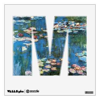 Waterlilies by Claude Monet, Vintage Impressionism Wall Sticker
