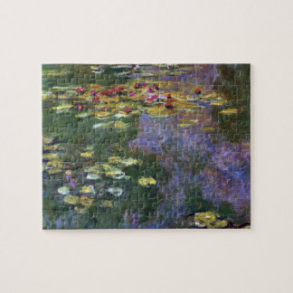 Waterlilies by Claude Monet, Vintage Nature Art Jigsaw Puzzle