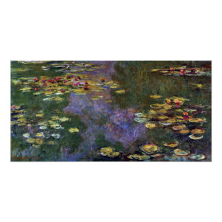 Waterlilies by Claude Monet, Vintage Nature Art Poster