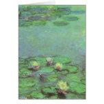 Waterlilies by Monet, Vintage Floral Impressionism Card