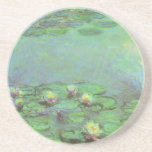Waterlilies by Monet, Vintage Floral Impressionism Drink Coasters