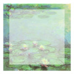 Waterlilies by Monet, Vintage Floral Impressionism Announcement