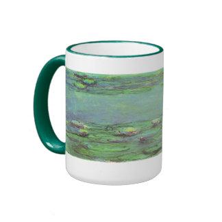 Waterlilies by Monet, Vintage Floral Impressionism Mug