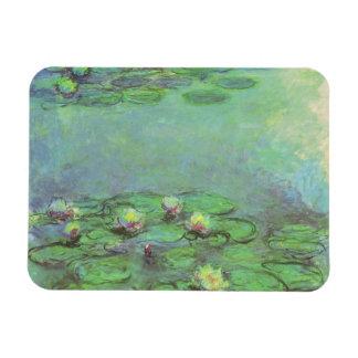 Waterlilies by Monet, Vintage Floral Impressionism Rectangular Photo Magnet