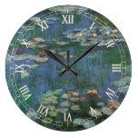 Waterlilies, Claude Monet, bella arte floral del v Relojes