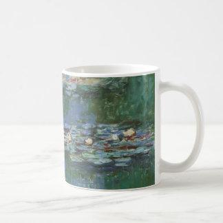 Waterlilies Claude Monet bella arte floral del v Tazas De Café