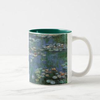Waterlilies Claude Monet bella arte floral del v Taza