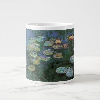 Waterlilies Claude Monet bella arte floral del v Taza Jumbo