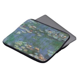 Waterlilies, Claude Monet, Vintage Floral Fine Art Laptop Sleeve