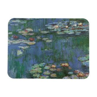 Waterlilies, Claude Monet, Vintage Floral Fine Art Rectangular Photo Magnet