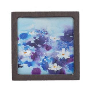 Waterlilies contemporáneos de la bella arte del ©  caja de regalo de calidad