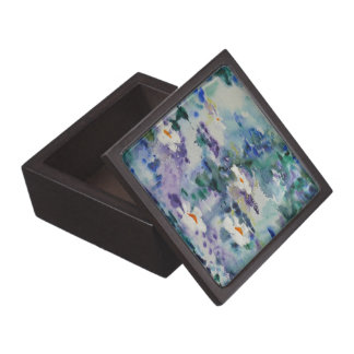 Waterlilies contemporáneos de la bella arte del ©  cajas de recuerdo de calidad