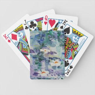 Waterlilies contemporáneos de la bella arte del ©  baraja de cartas