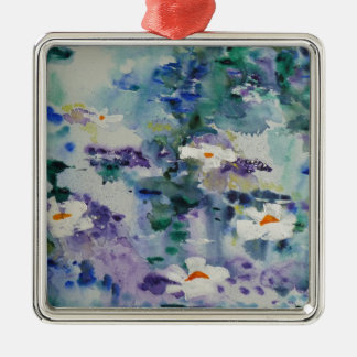 Waterlilies contemporáneos de la bella arte del © adorno de navidad