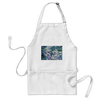 Waterlilies contemporáneos de la bella arte del ©  delantales