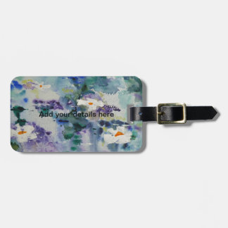 Waterlilies contemporáneos de la bella arte del ©  etiquetas de maletas