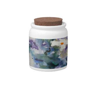 Waterlilies contemporáneos de la bella arte del ©  jarra para caramelo