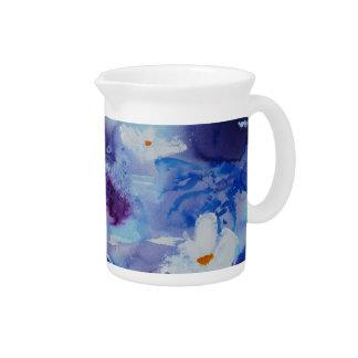 Waterlilies contemporáneos de la bella arte del ©  jarra para bebida
