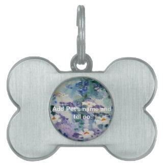 Waterlilies contemporáneos de la bella arte del ©  placas de mascota