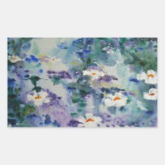 Waterlilies contemporáneos de la bella arte del © rectangular altavoz