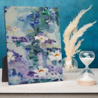 Waterlilies contemporáneos de la bella arte del ©  placas con fotos
