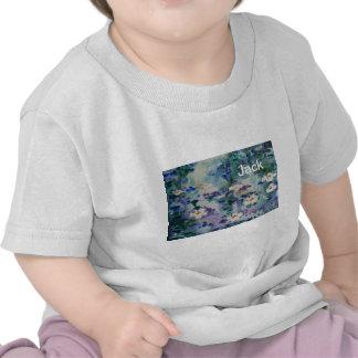 Waterlilies contemporáneos de la bella arte del ©  camisetas