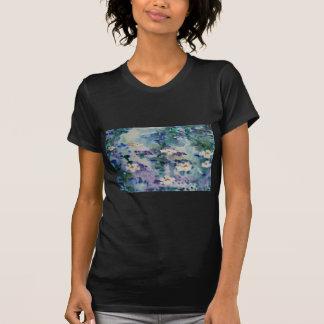 Waterlilies contemporáneos de la bella arte del ©  camiseta