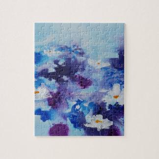 Waterlilies contemporáneos de la bella arte del © rompecabeza