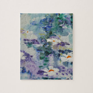 Waterlilies contemporáneos de la bella arte del ©  puzzles