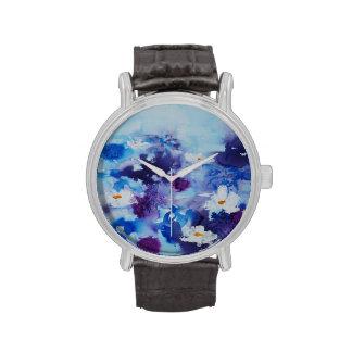 Waterlilies contemporáneos de la bella arte del © relojes de mano