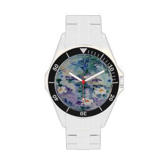 Waterlilies contemporáneos de la bella arte del © reloj