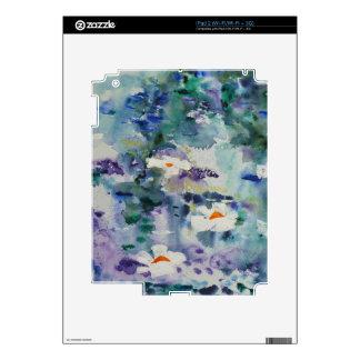 Waterlilies contemporáneos de la bella arte del ©  iPad 2 skins