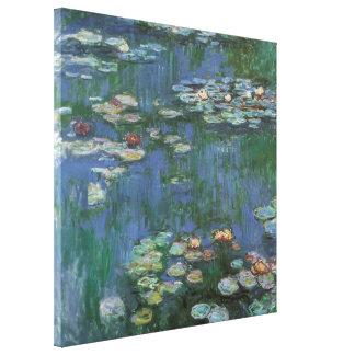 Waterlilies de Claude Monet, flores del vintage Impresión En Lienzo