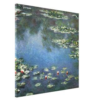 Waterlilies de Claude Monet, flores del vintage Impresión En Lona