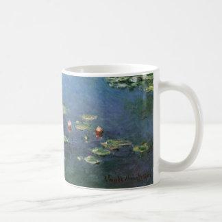 Waterlilies de Claude Monet, flores del vintage Taza De Café