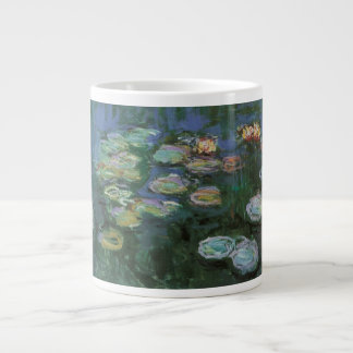 Waterlilies de Claude Monet, flores del vintage Taza De Café Grande