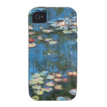 Waterlilies de Claude Monet, impresionismo del Case-Mate iPhone 4 Fundas