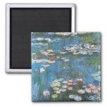 Waterlilies de Claude Monet, impresionismo del Imán Cuadrado