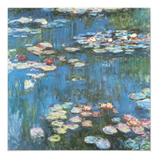 """Waterlilies de Claude Monet, impresionismo del Invitación 5.25"""" X 5.25"""""""