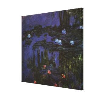 Waterlilies de Claude Monet, impresionismo del Lona Envuelta Para Galerías