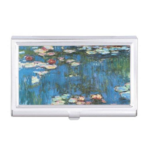 Waterlilies de Claude Monet, impresionismo del Caja De Tarjetas De Presentación
