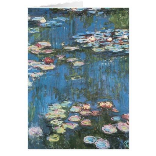 Waterlilies de Claude Monet, impresionismo del Tarjeton