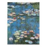 Waterlilies de Claude Monet, impresionismo del Tarjeta Postal