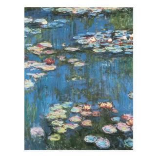 Waterlilies de Claude Monet, impresionismo del Postal