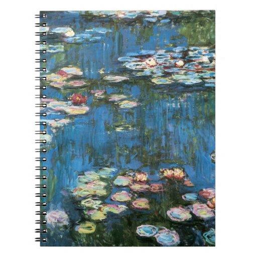 Waterlilies de Claude Monet, impresionismo del vin Libretas