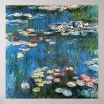 Waterlilies de Claude Monet, impresionismo del vin Posters
