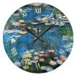 Waterlilies de Claude Monet, impresionismo del vin Relojes De Pared