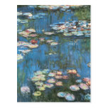 Waterlilies de Claude Monet, impresionismo del vin Tarjeta Postal