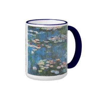 Waterlilies de Claude Monet impresionismo del vin Taza